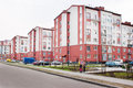 Free New Pink Apartment Houses Royalty Free Stock Photos - 40691898