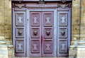 Free France, Paris: The Door Of St Paul Church Royalty Free Stock Image - 4070336