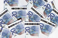 Free Twenty Euro Notes Stock Image - 4072581