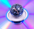 Free Painted Ball On A Rainbow Surface Royalty Free Stock Photography - 4073317