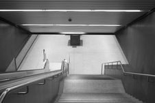 Free Stairway In A Subway Station Stock Photo - 4070030