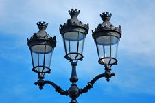 France, Paris: Old Lamp-post Royalty Free Stock Image