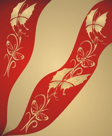 Free Abstract Gold Butterfly Background - Stock Photography - 4070212