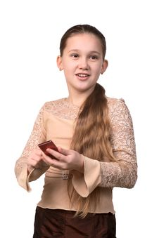 Free The Girl With A Mobile Phone Stock Photos - 4071933