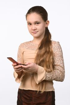 Free The Girl With A Mobile Phone Stock Photos - 4072043