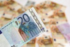 Twenty Euro Banknote Stock Image