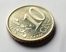 Free Coin Macro 10 Euro Cent Royalty Free Stock Image - 4072396