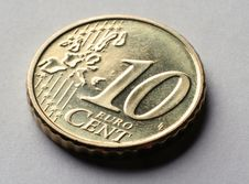 Free Coin Macro 10 Euro Cent Stock Photos - 4072413