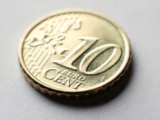Free Coin Macro 10 Euro Cent Royalty Free Stock Photography - 4072417