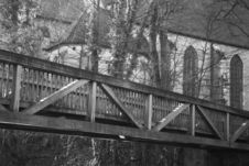 Free Bridge And Church Royalty Free Stock Images - 4072859