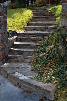 Old Stone Stairway Royalty Free Stock Photos