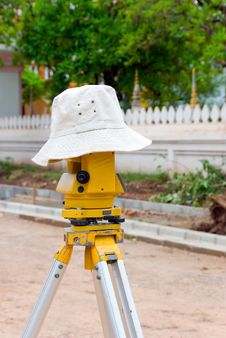 Free Surveyor On A Break Royalty Free Stock Images - 4073809