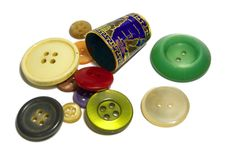 Free Buttons And Thimble Royalty Free Stock Images - 4074369