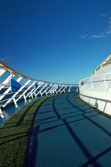 Free Cruise Ship Running Path Stock Images - 4074524