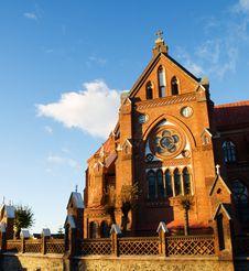 Free Red Birck Church Royalty Free Stock Images - 4075099