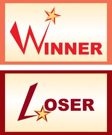 Free Button - Winner Abd Loser Royalty Free Stock Image - 4075996