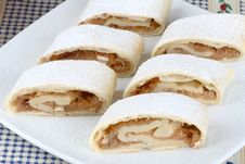 Free Apple Roll (strudel) Stock Photography - 4076442
