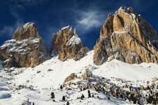 Free Snow Capped Dolomite Mountains Stock Photo - 4076540