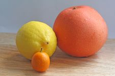 Free Trio Of Citrusy Goodness Royalty Free Stock Photos - 4076588