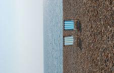 Deckchairs On The Brighton Beach Stock Photography