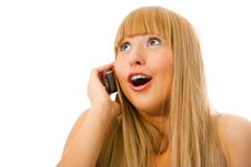 Free Woman With Cell Phone Stock Images - 4076844