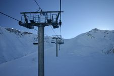 Free Chair Lift Royalty Free Stock Image - 4077156