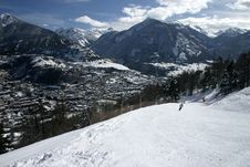 Free Ski Slope In Briancon Stock Photography - 4077212