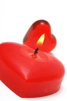 Free Valentine Candle Royalty Free Stock Photo - 4077355