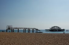 Brighton Beach Royalty Free Stock Images