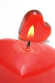Free Valentine Candle Royalty Free Stock Photos - 4077438