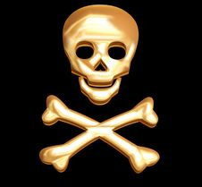 Free Golden Skull Royalty Free Stock Images - 4078299