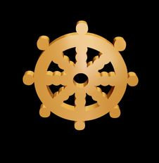 Free 3D Ships Wheel Royalty Free Stock Image - 4078306