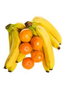 Bananas And Oranges Stock Photo