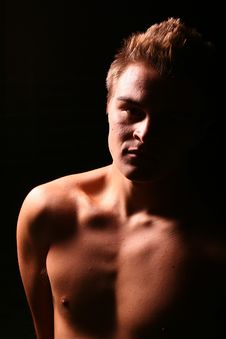 Free Profile Of A Young Muscular Man Stock Photo - 4079600