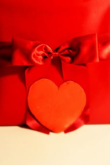 Free Red Gift With Heart Stock Images - 4079884