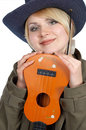 Free Cute Girl With Guitar Royalty Free Stock Image - 4081596