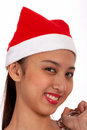 Free Lovely Lady In Red Hat Royalty Free Stock Images - 4083829