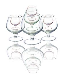 Free Empty Wine Glasses Royalty Free Stock Images - 4080099