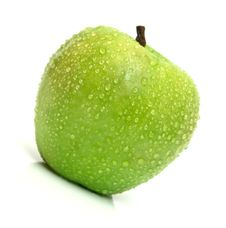 Free Ripe Juicy Apple On White Royalty Free Stock Photography - 4080197