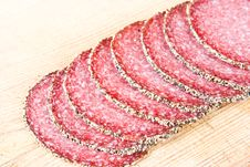 Free Peppered Salami Royalty Free Stock Images - 4081169