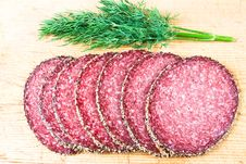 Free Peppered Salami With Dill Stock Photos - 4081183