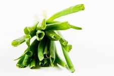 A Bunch Of Spring Onions Royalty Free Stock Images
