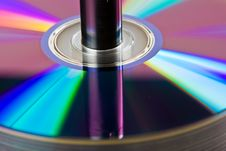 A Stack Of DVDs Royalty Free Stock Photography