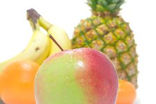 Free Apple On Fruits Background 2 Royalty Free Stock Photos - 4081478