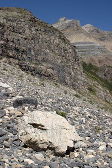 Free Plain Of Six Glaciers Trail Royalty Free Stock Images - 4081499