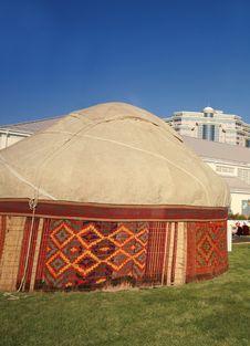 Free Kazakh Nomad S Yurt Tent Stock Photography - 4081562