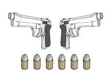 Free Guns With Ammunition Royalty Free Stock Image - 4081766