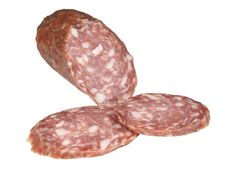 Free Hard Salami And Two Slices Royalty Free Stock Photos - 4081908