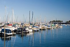 Free Diagonal Row Of Boats Royalty Free Stock Photo - 4082005