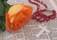 Free Rose And Bible Royalty Free Stock Image - 4082046